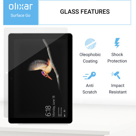 Olixar Microsoft Surface Go Tempered Glass Screen Protector