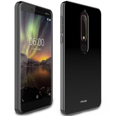 Olixar FlexiShield Nokia 6.1 Gel Case - Black