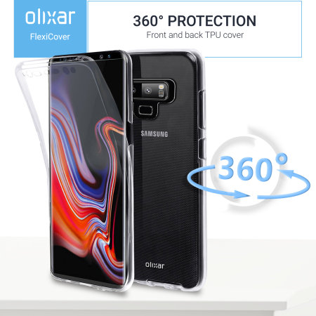 Samsung Galaxy Note 9 Full Cover Case 360 Protection Olixar FlexiCover