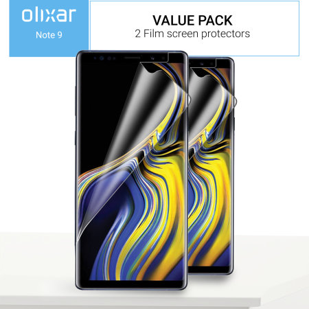 Olixar Samsung Galaxy Note 9 Film Screen Protector 2 pak