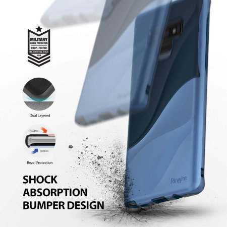 Ringke Wave Samsung Galaxy Note 9 Case - Coastal Blue