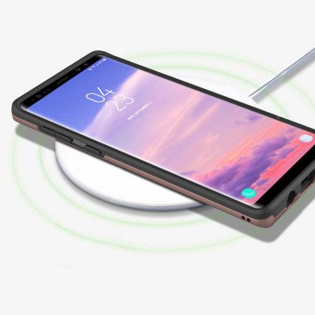 Obliq Slim Meta Samsung Galaxy Note 9 Hülle - Roségold