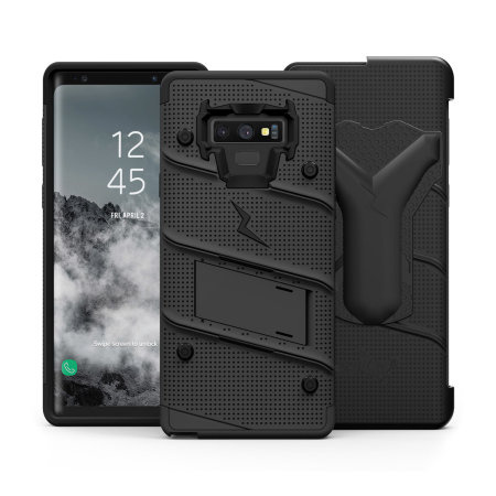 timeless design 5e1a1 10daa Zizo Bolt Samsung Galaxy Note 9 Tough Case & Screen Protector - Black