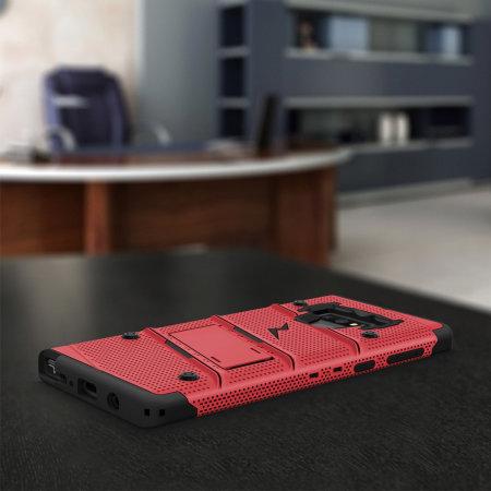 Zizo Bolt Samsung Galaxy Note 9 Tough Case & Screen Protector - Red