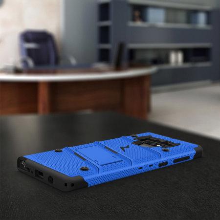 Zizo Bolt Samsung Galaxy Note 9 Tough Case & Screen Protector - Blue