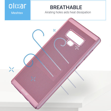 Olixar MeshTex Samsung Galaxy Note 9 Slim Case - Rose Gold