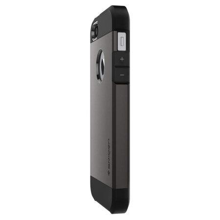 spigen sgp tough armor iphone se case - gunmetal