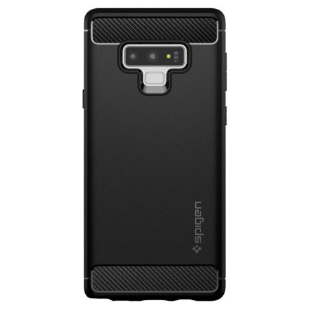 new arrivals 39414 39080 Spigen Rugged Armor Samsung Galaxy Note 9 Tough Carbon Case - Black