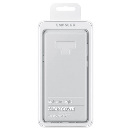 Official Samsung Galaxy Note 9 Clear Cover Case - 100% Clear