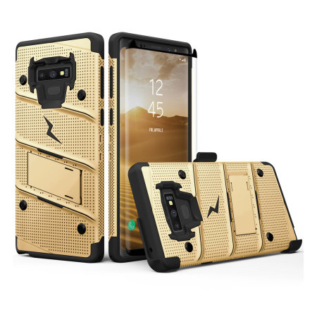 newest collection 1b7d0 6d530 Zizo Bolt Samsung Galaxy Note 9 Tough Case & Screen Protector - Gold