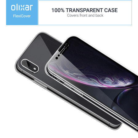 Olixar FlexiCover iPhone XR Complete Protection Case - Clear