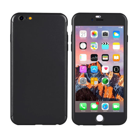 olixar x-trio full cover iphone 6s / 6 case & screen protector - black