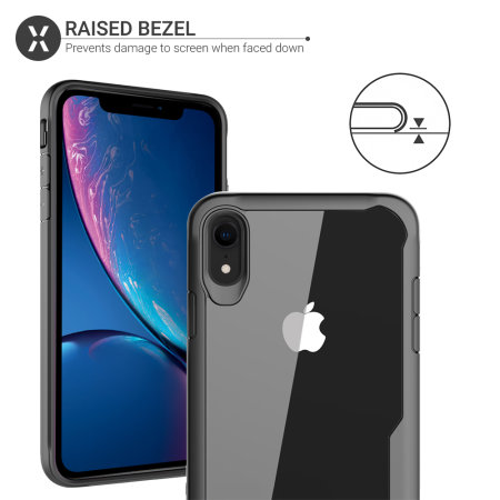 buy popular 486d3 d46b7 Olixar NovaShield iPhone XR Bumper Case - Black / Clear