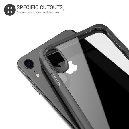 Coque iPhone XR Olixar NovaShield – Style bumper – Noire