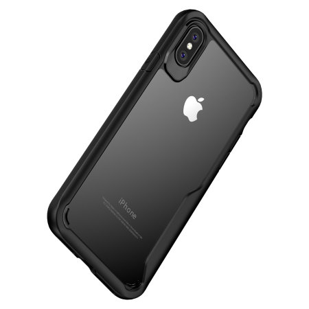 san francisco e5275 6a59a Olixar NovaShield iPhone XS Max Bumper Case - Black