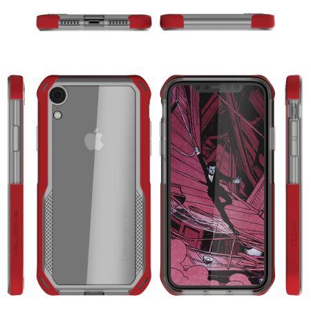 coque iphone xr rouge transparente