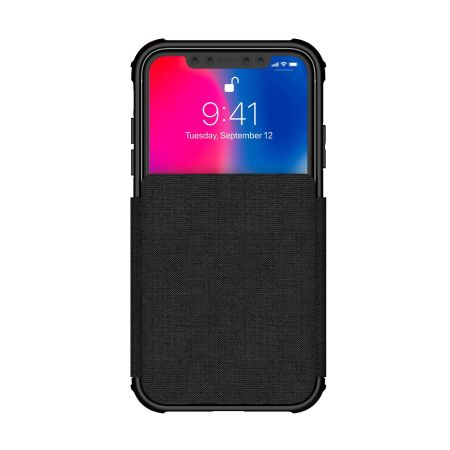 ghostek exec 3 series iphone xr wallet case - black