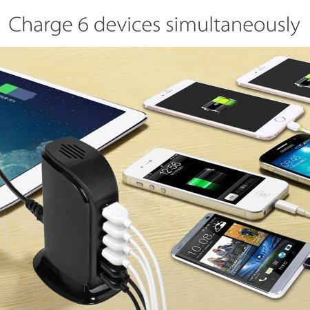 Avantree PowerTower Desktop USB Charger - Black - EU Mains
