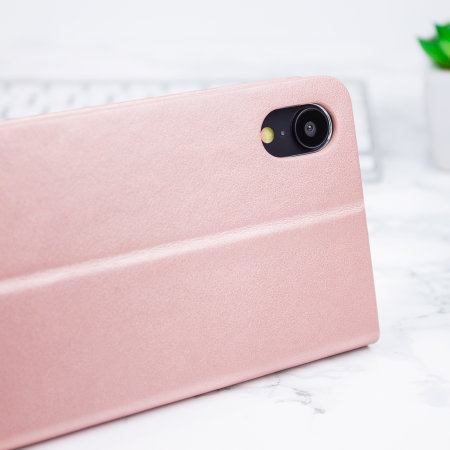 Olixar Lederen stijl portemonnee iPhone XR Case - Rose Goud