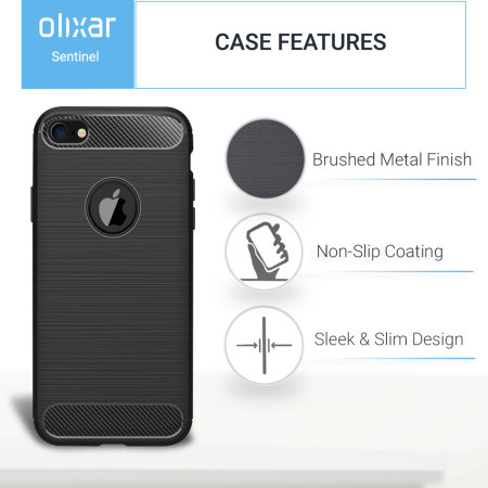 iphone 6s / 6 olixar sentinel case and glass screen protector