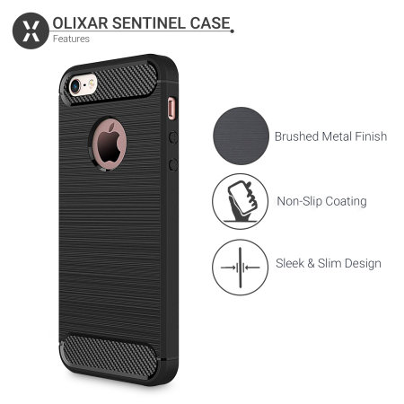 olixar sentinel iphone se case and glass screen protector