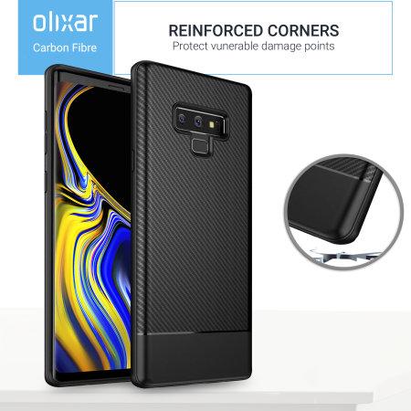 Olixar Carbon Fibre Samsung Galaxy Note 9 Case - Black