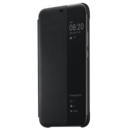 brand new 2abdb f4111 Official Huawei Mate 20 Lite Smart View Flip Case - Black
