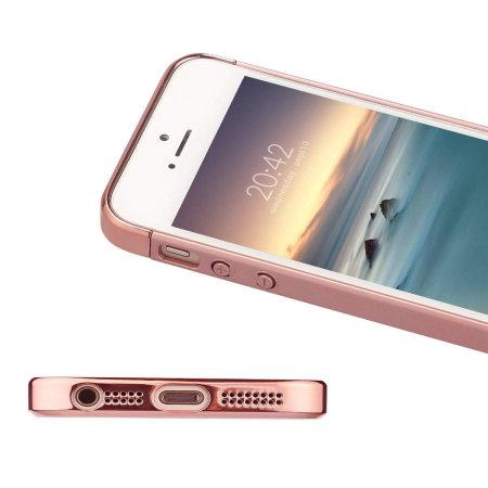 olixar xring iphone se finger loop case - rose gold