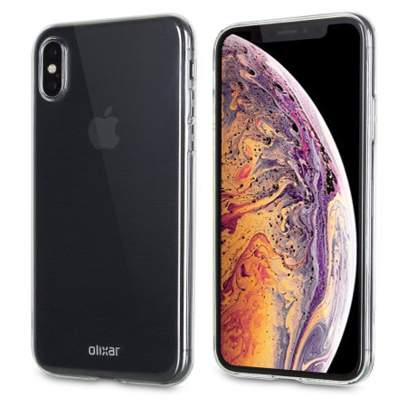iPhone XS Max Clear Case - Olixar Ultra Thin Gel - 100% Clear