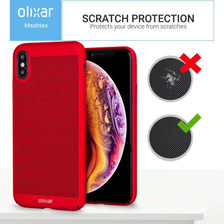 Funda iPhone XS Max Olixar MeshTex - Rojo bronce
