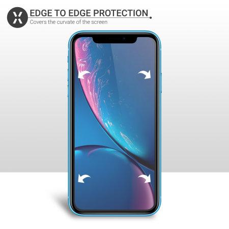 Protector de pantalla iPhone XR Olixar - 2 en 1