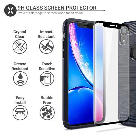 Funda iPhone XR Olixar Sentinel con Protector de Pantalla - Azul