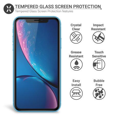 Protector de Pantalla iPhone XR Olixar Cristal Compatible con Funda