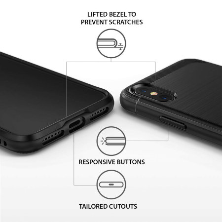 Ringke Onyx iPhone XS Tough Case - Black