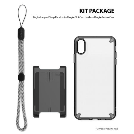 premium selection acce9 8cd5d Ringke Fusion 3-in-1 iPhone XS Max Kit Case - Smoke Black