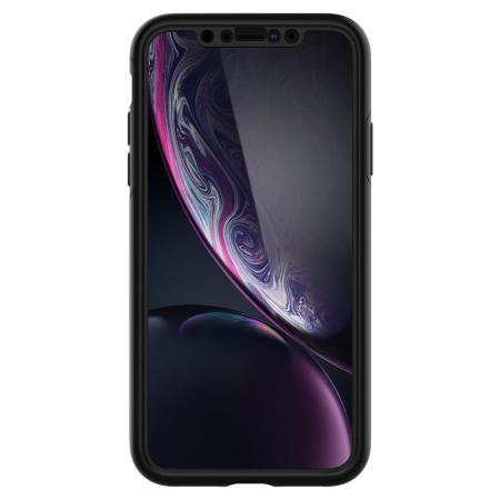 Coque iPhone XR Spigen Thin Fit & Verre Trempé – Noire