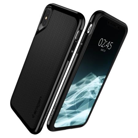 coque iphone xs fine noir spigen