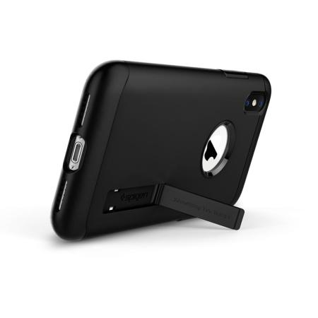 Spigen Slim Armor iPhone XS Tough Case - Black