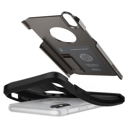 Spigen Tough Armor iPhone XS Case - Gunmetal