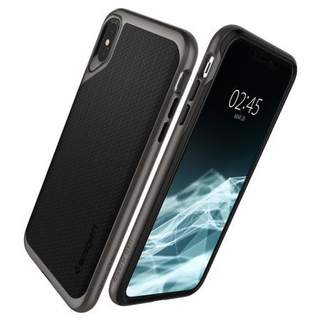 Spigen Neo Hybrid iPhone XS Max Hülle - Gunmetal