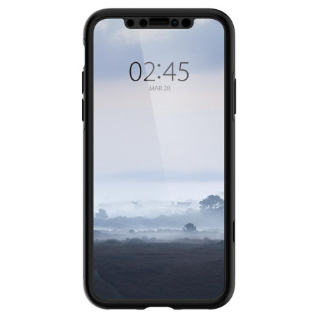 new arrivals 15a32 1f9de Spigen Thin Fit iPhone XS Max Case and Glass Screen Protector - Black