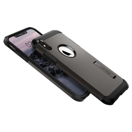 Spigen Tough Armor iPhone XS Max Hülle - Gunmetal