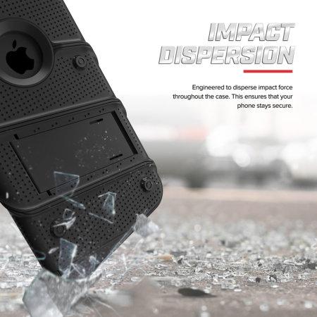 Zizo Bolt iPhone XS Max Tough Case & Screen Protector - Black