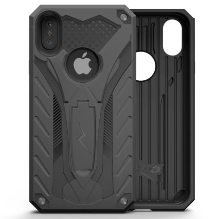 watch 54584 11670 Zizo Static iPhone XS Max Tough Case & Kickstand - Black