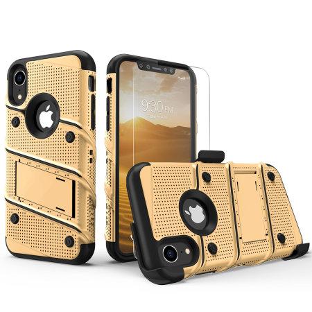 coque iphone xr noir et or