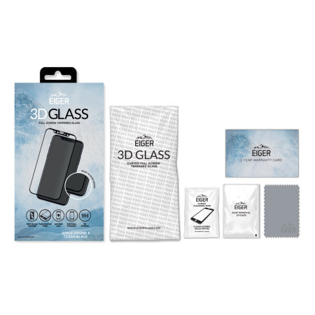 Protector de Pantalla iPhone XS Eiger 3D Cristal Templado - Negro