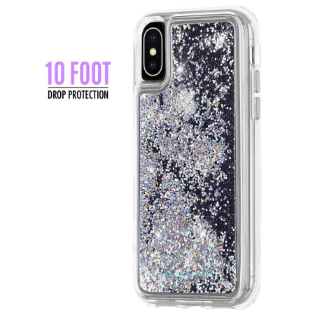new style 1e83c 88deb Case-Mate iPhone XS Max Waterfall Glitter Case - Iridescent Diamond