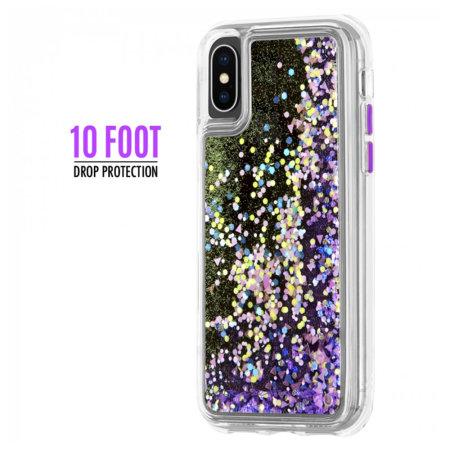 buy online cbdd1 97786 Case-Mate iPhone XS Waterfall Glow Glitter Case - Purple Glow