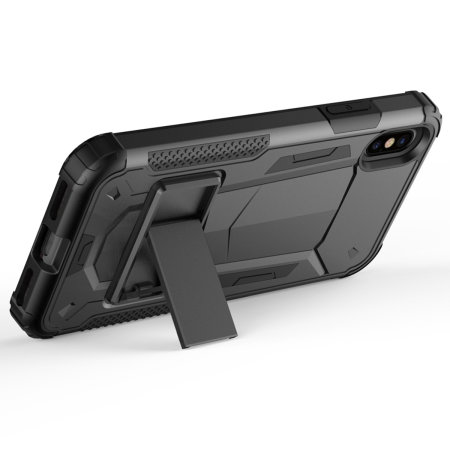 zizo zv hybrid transformer series iphone xs max case - black