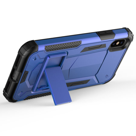 zizo zv hybrid transformer series iphone xs max case - blue / black
